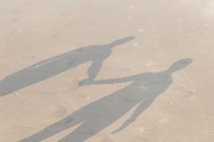 schaduwen strand