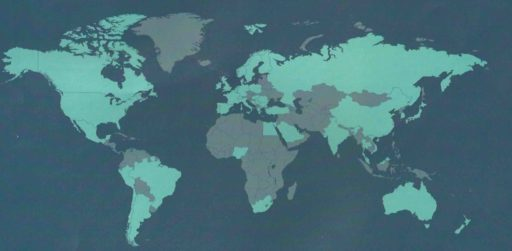 wereldkaart van project PSP